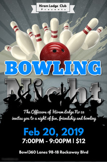 2019 Bowling Night